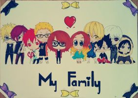 My big anime family by pincello