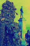 giant  borg post apocalyptic war lord monument by overlord-costume-art
