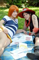 Chilling with Nami by wilfi03