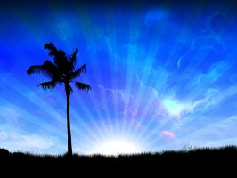 Palm Tree Dreams - edited by kandiart