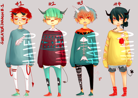 SWEATERDEMON ADOPTS [CLOSED] by Haifu