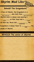 Skyrim Mad Libs by SlayerSyrena