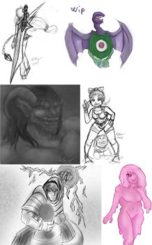 Sketch Dump March-april by Chanree