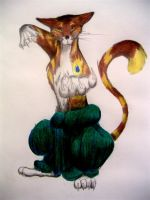 Shirtless Demented Cat by lost-in-a-fishbowl