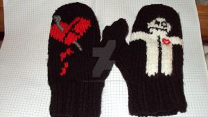 VIXX Voodoo Doll Mitts by SwallowCaptSwallow