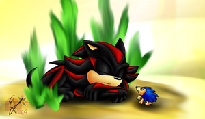 ArtTrade - Sleepy Shadow by EllyTheGee