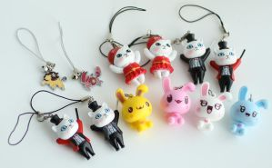 12 Kawaii Animal Charms FOR SALE by MonsterBrandCrafts