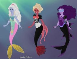 SU Fusion mermaids by WaterLily-Gems