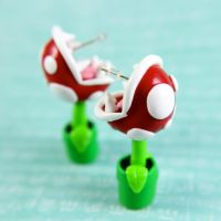 Piranha Plant earrings by TrenoNights