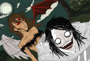 Jeff the killer and vaeGa-tURliM WIP by NoOneElseThanEya