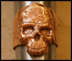 repousse exercise - skull ring by simoniculus