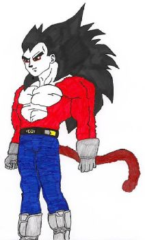 Vegeta SSJ4- looking dodgy. by ravendarkraven