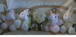 Plush Yoda and Rabbits Padawans by jaycebrasil