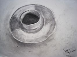 Tea Cup and Saucer by JamesSchay