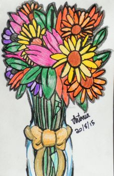 Flowers in a vase by PieChan34-Creations