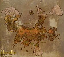 The continent of Davellir by Filecreation