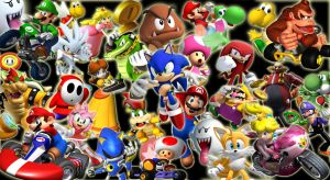 Mario and Sonic Wallpaper by QuorraTheIso