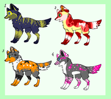 wolfy adoptables CLOSED by zcherozrodesidz