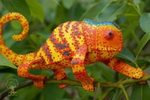 Custom Painted Chameleon 12 by quirkandbramble