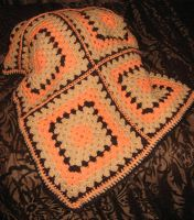Chocolate Orange Blanket by MOGsplosh