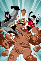 Batman and Robin: Clayface' Slime Spree Interior 5 by LucianoVecchio