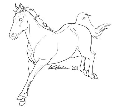 Sport Horse Lineart by Kholran