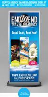 Travel Agency Banner Signage Display PSD by ShermanJackson