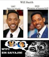 Will Smith= A SAIYAN!? O.O XD by Yuma76