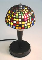 Stained Glass Lamp by theancientofdays
