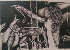 Ink Drawing - Beau Bokan by ThrowYourRoses