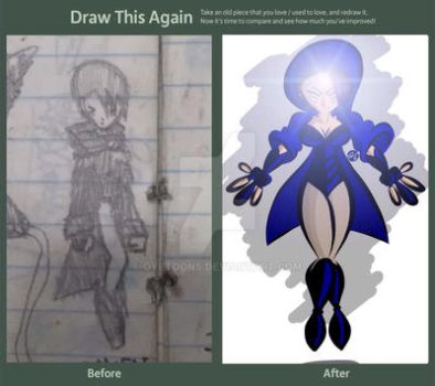 Draw it Again - Blue Witch  by oyetoons