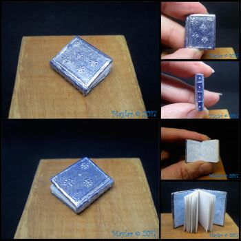 Silver Snowflakes Miniature Book by Maylar