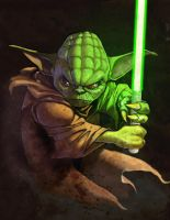 YODA BY  MAURICIO HERRERA by JOHNTORRE