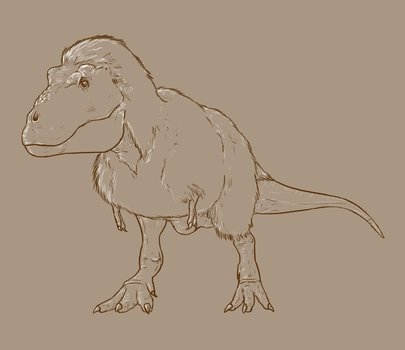 30 Day Dinosaur Drawing Challenge - Day 1 by Sketchy-raptor