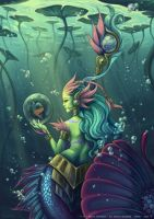 Skin Nami river spirit - League of legends by o0dzaka0o