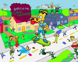 Fanart Bart vs the Space Mutants by Mighty355