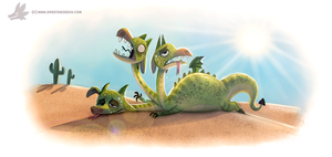 Daily Paint #1200. De-hydra by Cryptid-Creations