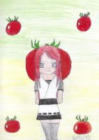 Kushina tomato head by SapphireSky1992