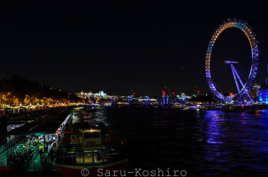 London Eye - Themse in the dark by Saru-Koshiro