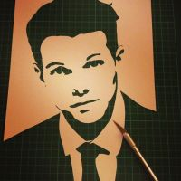 Louis Tomlinson - 1 Layer Stencil One Direction by RAMART79