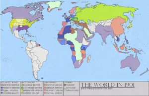 The World in 1901 by Nekromans