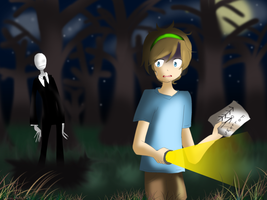 Slender and Pewdiepie by DaisuHeta423