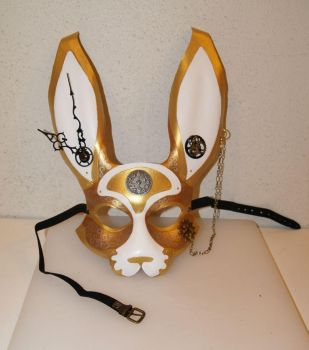 Steampunk bunny mask... by Angeldess