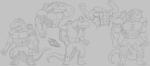 Extreme Dinosaurs 2014 TBone sketch by darkcolorfulspots