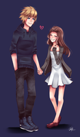 Commission - Aaron and Rylee by maryfraser