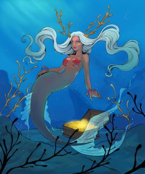 Coloring Contest - Scarlett Aimpyh Mermaid by Ronron84