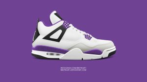 Air Jordan 4 'Ultraviolet' by BBoyKai91