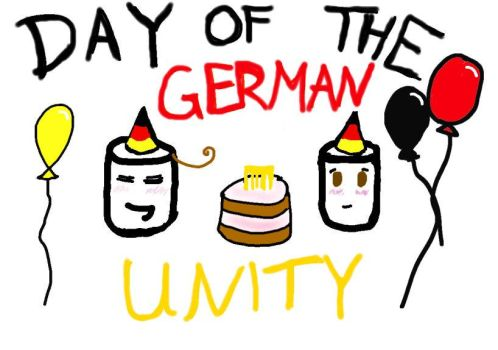Day of the German Unity means PARTY by AskItamallow
