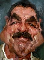 Tom Selleck, by Jeff Stahl by JeffStahl