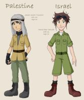 Hetalia - Israel and Palestine by demonoflight
